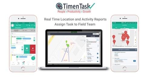 Employee Location Tracking App via TimenTask