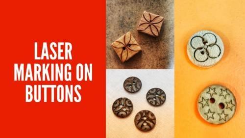 Laser marking or engraving on buttons to mark attractive sym... via Prakash Laser