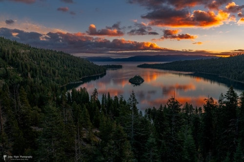 Reflection on Emerald Bay via John Hight