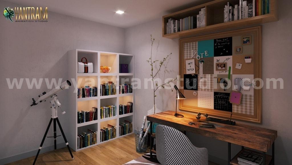 Impressive Residential Interior Design for Home by 3D Animat... via Yantram Studio