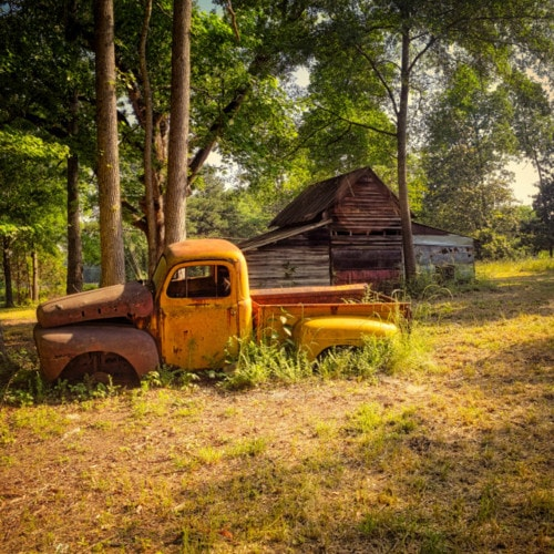 Purchase digital downloads and a range of printed products of Jon Davatz Photography's image - That Yellow Truck....