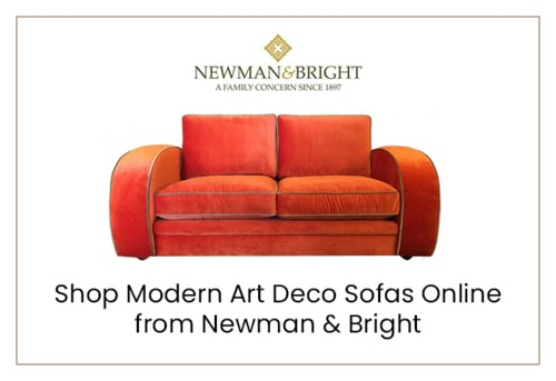 Shop Modern Art Deco Sofas Online from Newman & Bright via Newman & Bright