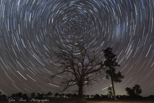 Startrails via glen ross