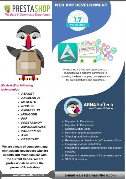 Prestashop Web Development Company - Arna Softech via Arna Softech