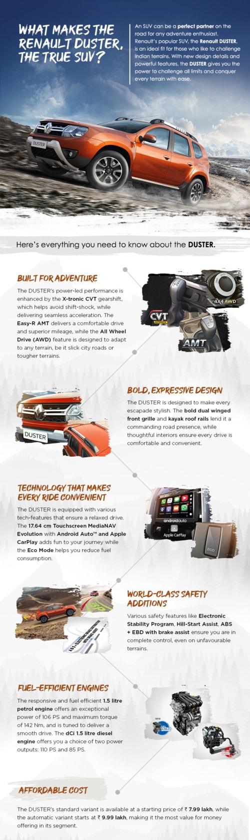 What makes the Renault DUSTER, the true SUV? via Manas Sharma