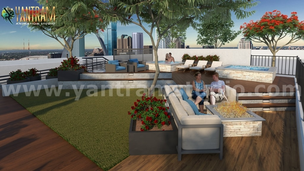 Modern Residential & Commercial 3D Exterior Building Designs... via Yantram Studio