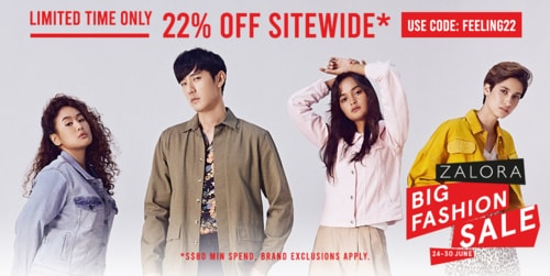 Zalora Promo Code - Get 22% OFF Sitewide Offer via James Whitef