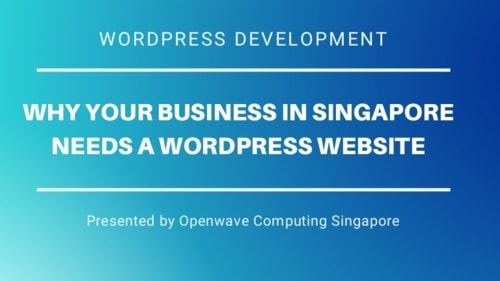 Why Your Business in Singapore Needs a Wordpress Website