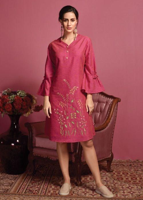 Stunning Pink Readymade Kurti via Swapnil Shah