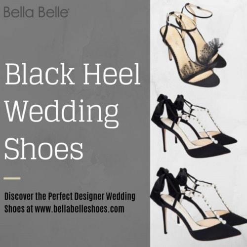 Black Heel Wedding Shoes via bellabelleshoes