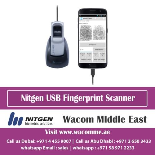 USB Fingerprint Scanner   Live Finger Detection   USB Finger Scanner   Wacom Middle East