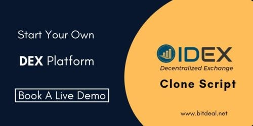Be the first to start a real time DEX Platform as like IDEX.... via stacey roberts