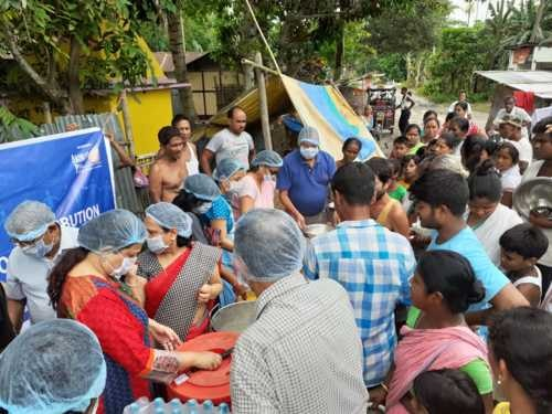 Flood Relief Operation in Guwahati, Assam via Akshaya Patra