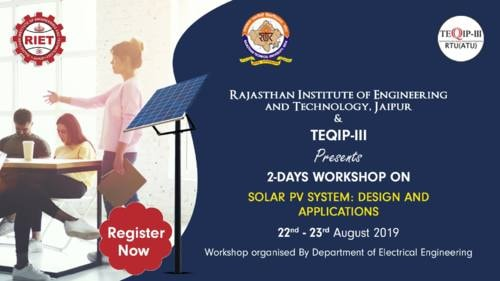 Workshop on Solar PV System - RIET Jaipur via RIET Jaipur