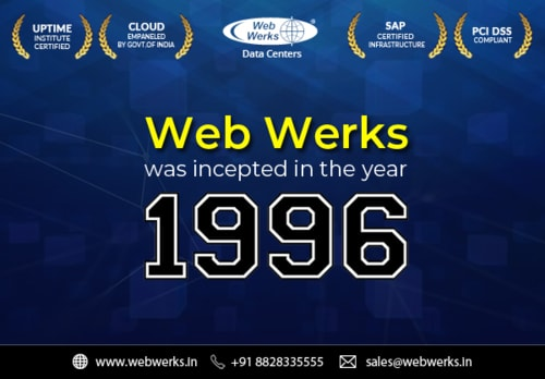 Web Werks was incepted in the year 1996.                                                                           https://www.webwe... via Web Werks Data Centers