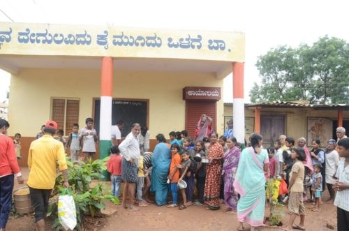 Flood Relief in Karnataka via Akshaya Patra