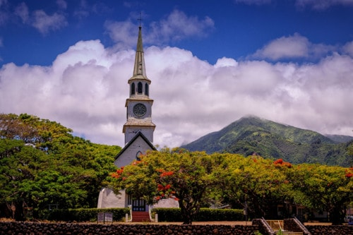 Steeple and Mountains via Stacy White