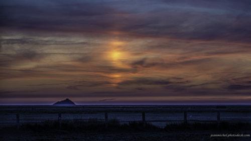 Sunset on Tombelaine via Jean Michel