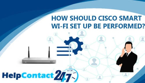 How should Cisco smart Wi-Fi setup be performed?