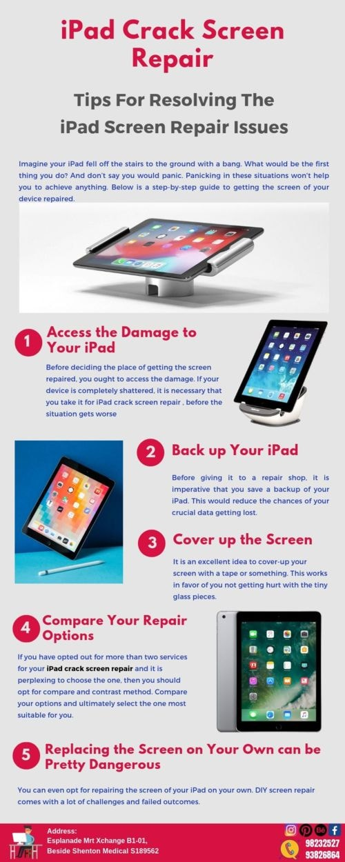 Tips For Resolving The iPad Screen Repair Issues                                     #iPadCrackS... via iDevice Repair Center Singapore