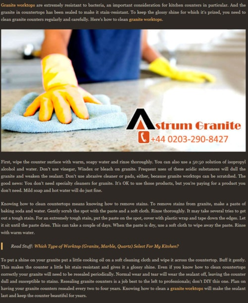 #GraniteKitchenCountertops/#Worktops: Read Some Benefits abo... via James William