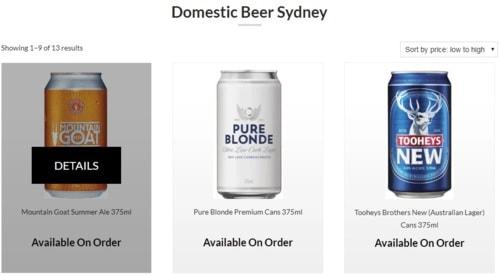 Ready To Drink Alcohol Shop Sydney via John Williams