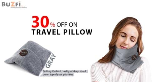 Buzfi Travel Pillow via ashley clark