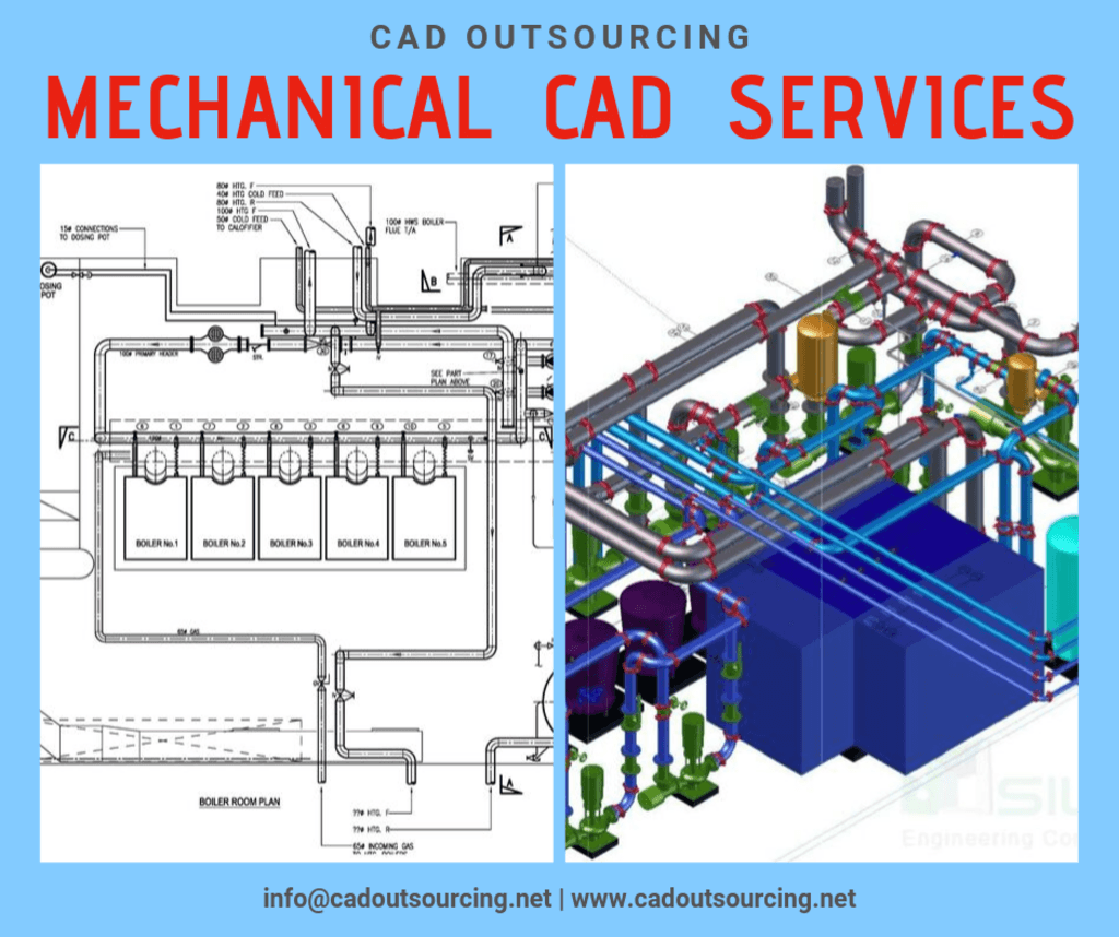 Mechanical CAD Drafting and Detailing Services via CAD Outsourcing