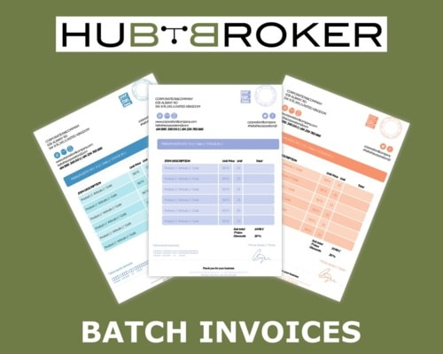 Batch Invoices Online e-conomic via HubBroker Aps