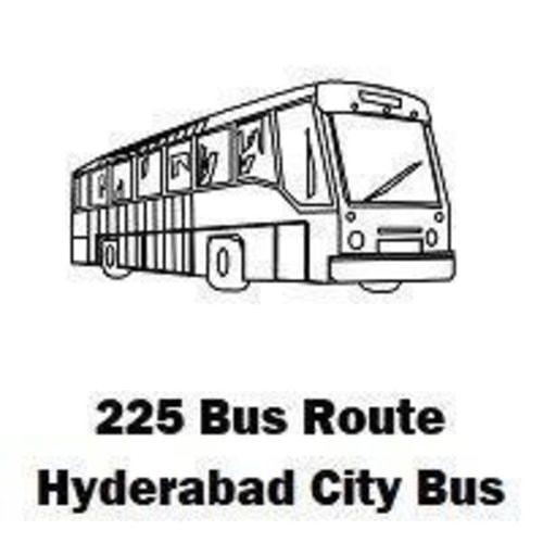 225 Bus route Hyderabad Patancheru Bus Stop to Koti Bus Stop... via routemaps