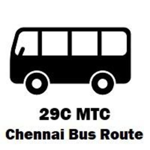 29C Bus route Chennai Perambur R.S to Besant Nagar                                     29C Bus r... via routemaps