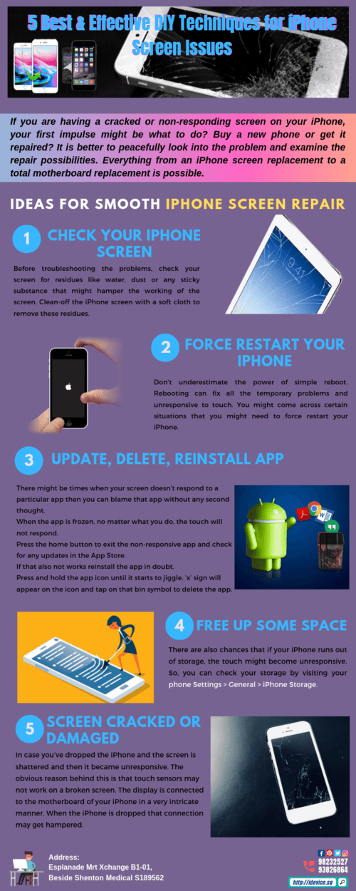 5 Best & Effective DIY Techniques for iPhone Screen Issues via iDevice Repair Center Singapore