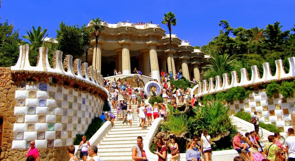 Day Trip To Park Guell Barcelona Spain via ankur raven