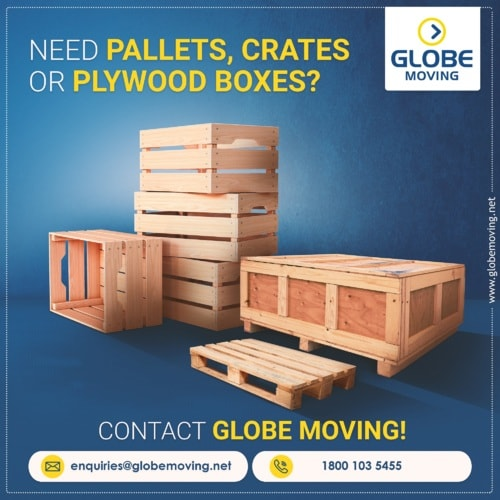 Globe Moving offers custom crates, pallets, plywood boxes, a... via Globe Moving