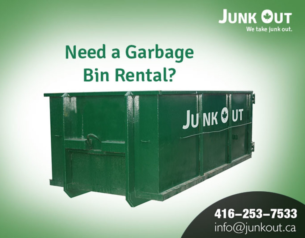 Junk Out provides garbage dumpster bin on rent at affordable... via Junk Out