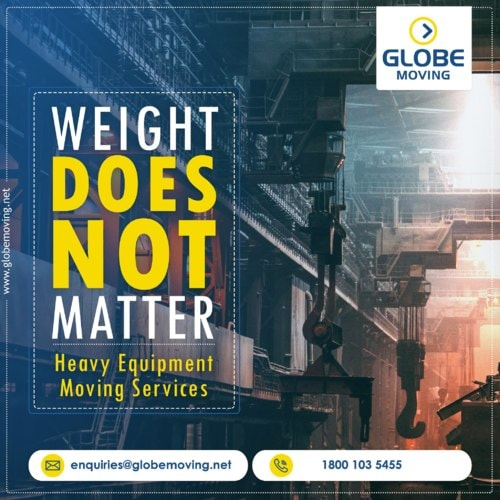 Heavy Equipment Moving Services via Globe Moving