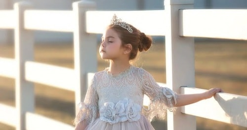Wedding Bells All Around? Shop Long Flower Girl Dresses For Your Daughter