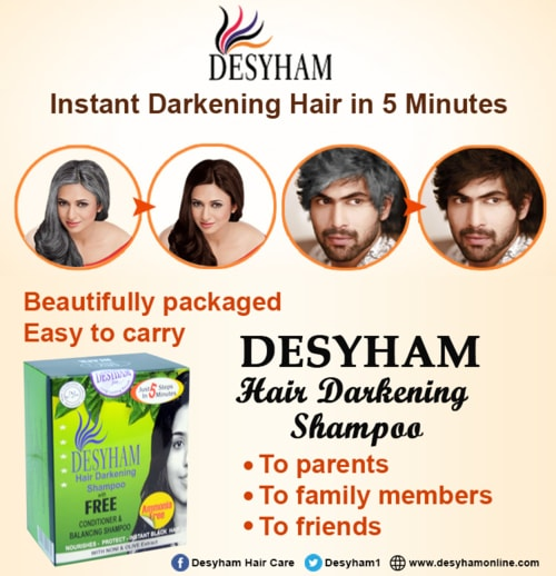 Turn your grey hair black in 5 Minutes and say good bye to a... via Desyham