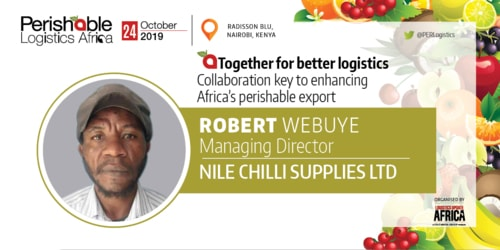 Robert Webuye of Nile Chilli Supplies, the company which spe... via Perishablelogisticsafrica