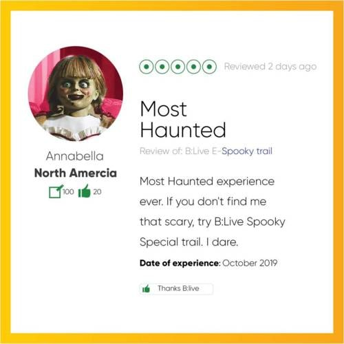 Our Spooky Special Trail is filling quickly. Two overseas gh... via B:Live