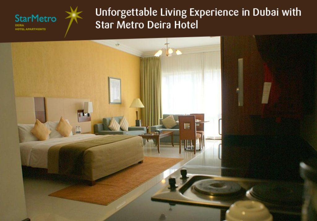 Unforgettable Living Experience in Dubai with Star Metro Dei... via Star Metro Deira Hotel