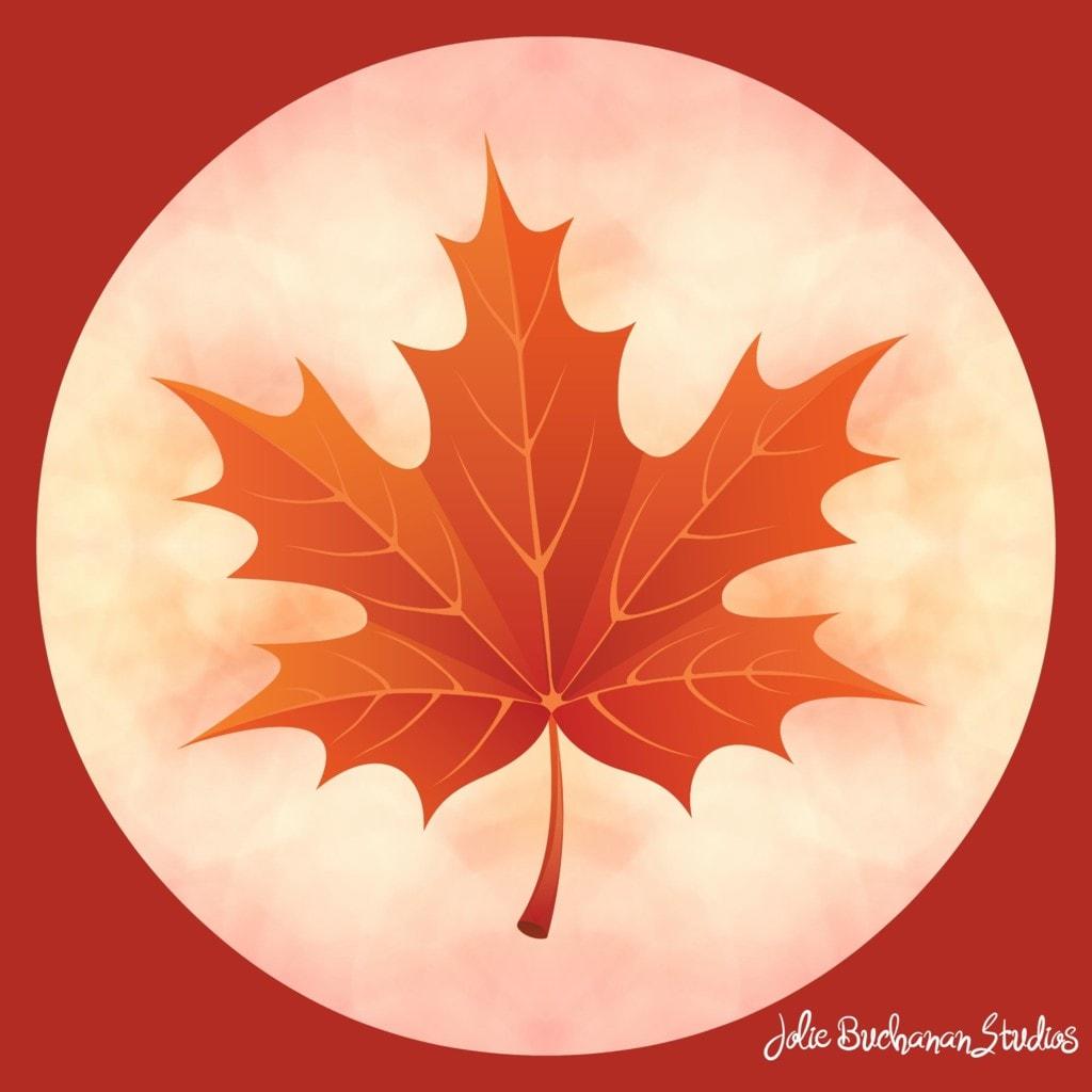 Merry Leaf Mandala via Jolie Buchanan