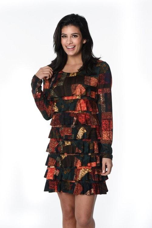 Shop Trafalgar Square Long Sleeve Cha Cha Dress Online via Isle by Melis Kozan