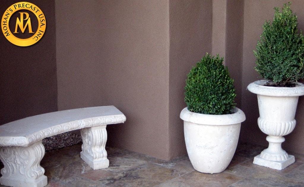 Flower Pot Concrete via mohansprecast