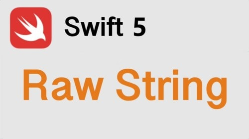 How to use Raw String In Swift 5?