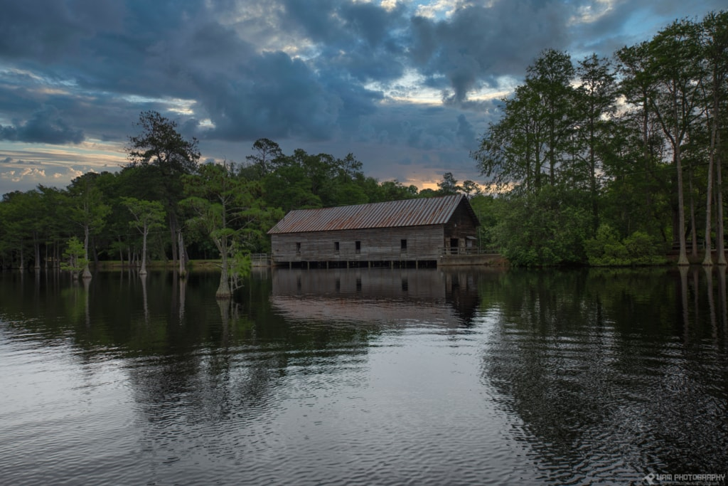 Cabin on the lake near Waynesboro, GA. via Liam Douglas - Professional Photographer