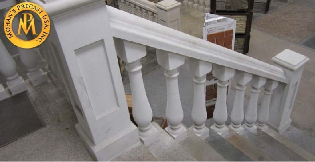 Upgrade your old metal hand railings with designer #precast ... via mohansprecast