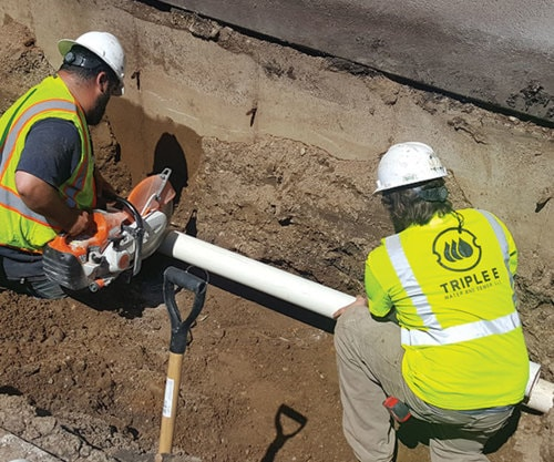 Water and Sewer Line Repair via Andrew Rice