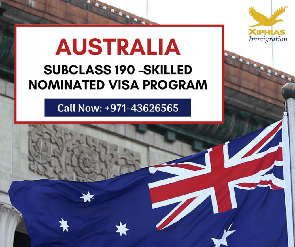 Australia 190 Skilled Nominated Visa Program - XIPHIAS via xiphias235