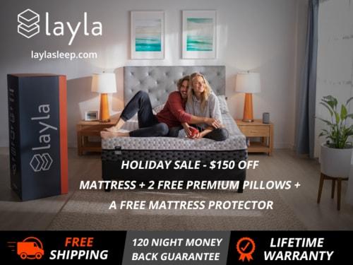 Layla Memory Foam Mattress - HOLIDAY SALE via Layla Sleep
